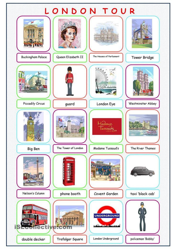 London Tour Picture Dictionary