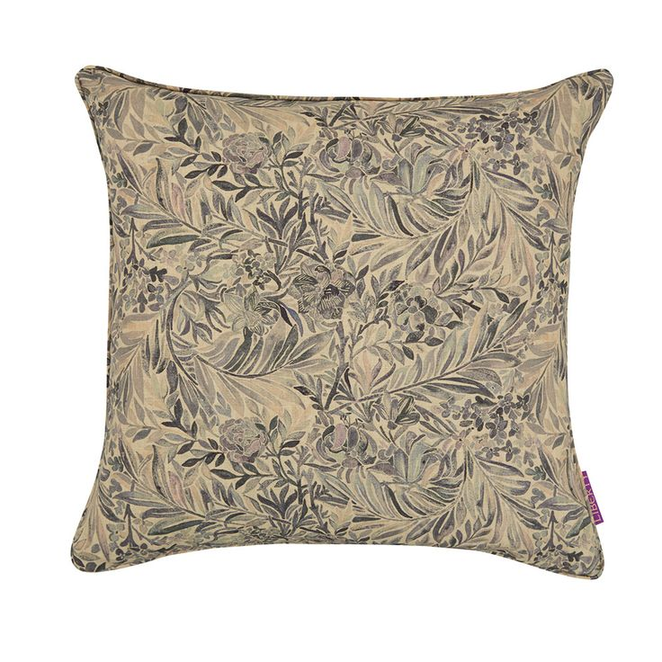 Addicted to pretty pillows! Discover the Liberty of London Wallace Secret Garden Cushion - 45x45cm - Grey Mist at Amara