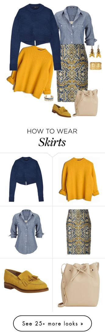 """""""Jacquard Skirt, 11."""" by clothes-wise on Polyvore featuring Silver Jeans Co., Dsquared2, Office, TIBI, Mansur Gavriel, BCBGeneration, women's clothing, women's fashion, women and female"""