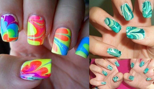 Pintarse las uñas con agua