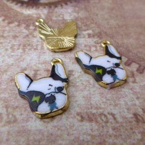 French Bulldog Charms Pack of 5, animal charms, jewellery supplies at www.kookeli.com