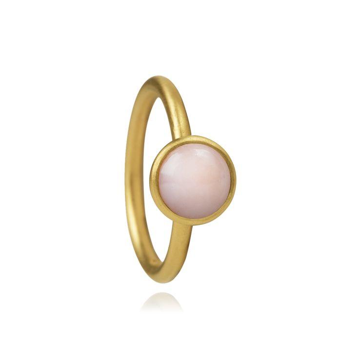 Hvisk Bubble Ring Pink Gold Medium