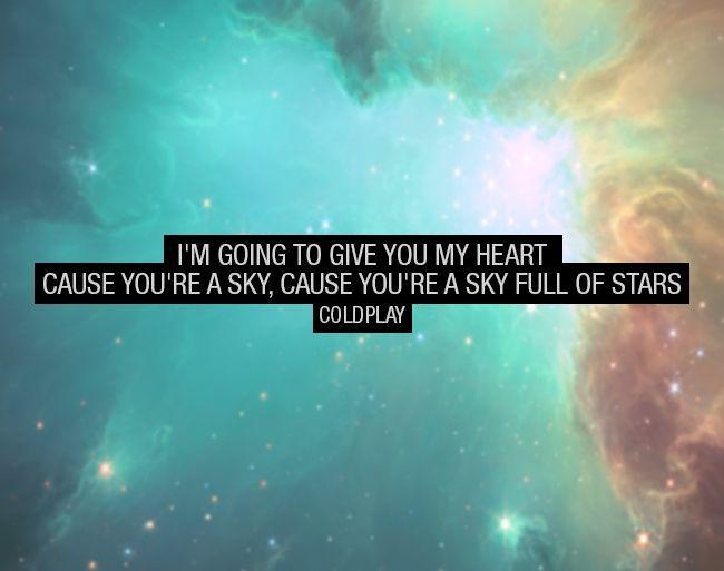 Как чувствую,так и пишу...) Coldplay-sky full of stars