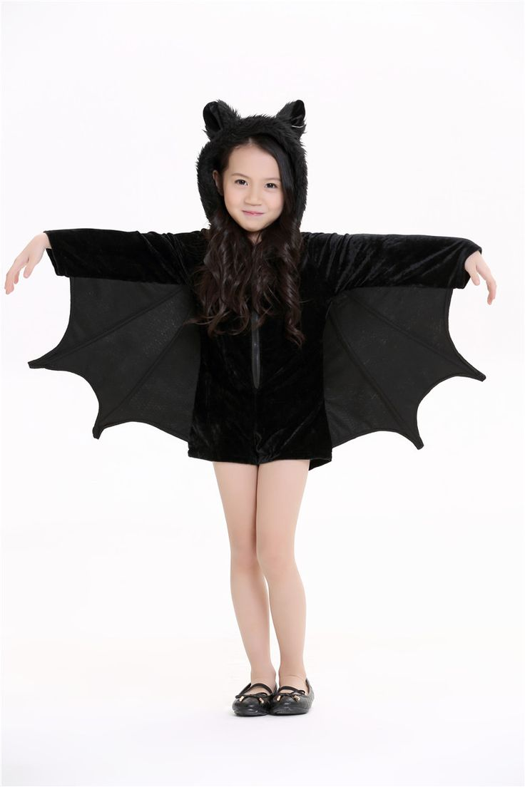 Fancy Halloween party costume Children Black Bat man jumpsuit stage cute Cosplay halloween costume for kids #Affiliate