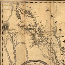 """Antique map of Louisiana, """"Lafon's General Map of Louisiana"""" (1806) -- """"Territoire d'Orleans"""" (Note: Mount in handmade frame.) (Ailina)"""