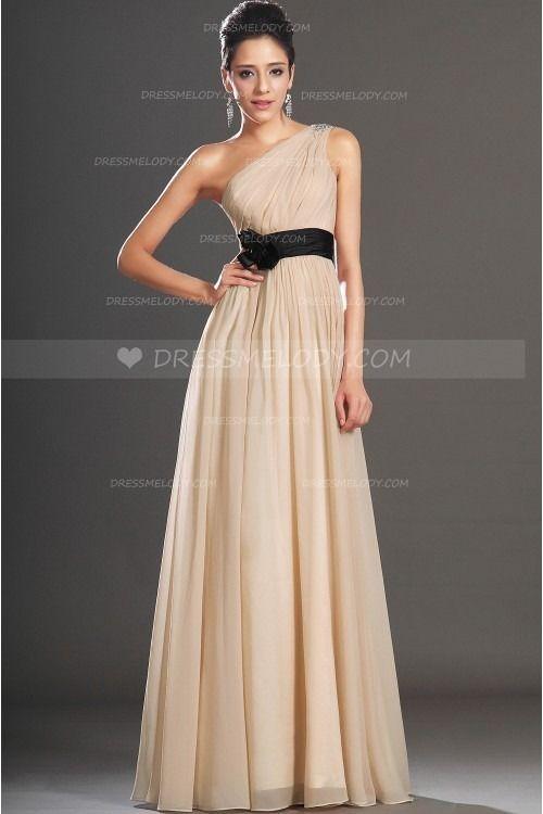 b4e10ead5b4 Beading One-Shoulder Sleeveless Floor-Length Pleated Chiffon Evening Dress  #eveningdress #eveningdresses #eveninggown #eveninggowns #formaldress ...