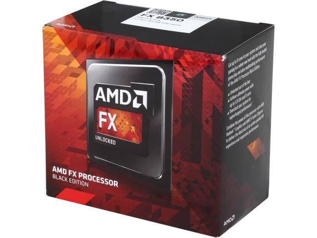 AMD FX-8350 Black Edition Vishera 8-Core 4.0 GHz (4.2 GHz Turbo) Socket AM3  125W FD8350FRHKBOX Desktop Processor