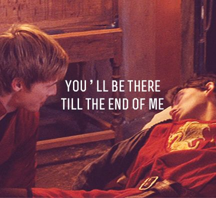 """""""You'll be there till the end of me."""" """"Or vice versa."""" Add this to the list of Doctor Who/Merlin crossovers that are NOT OKAY."""