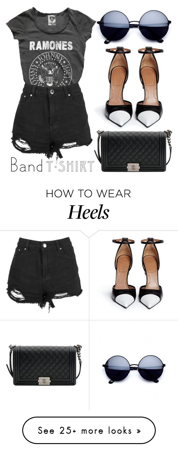 """Band Tee"" by minchu on Polyvore featuring Givenchy, Chanel, bandtshirt and bandtee"