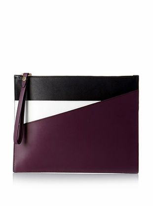 31% OFF Kate Spade Saturday Women's Leather Double Pocket Wristlet, Plum/Black