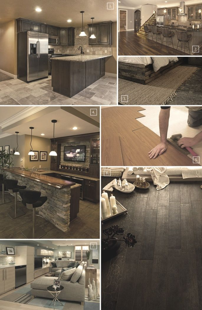 Different basement flooring ideas and styles a place to for Different flooring options