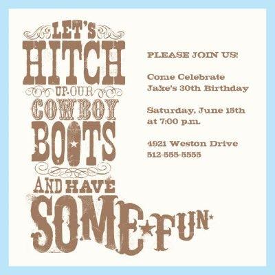 Yeehaw OMG! I LOVE These Invitations....