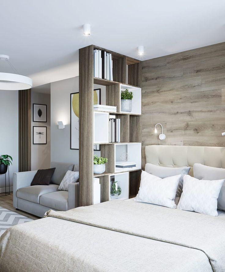 кровать для однокомнатной квартиры фото пару