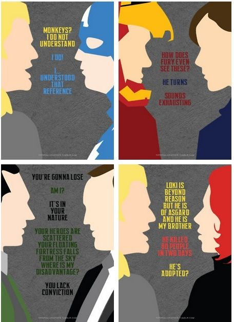 "Avengers Best Lines - ""I understood that reference""-Captain America<3"