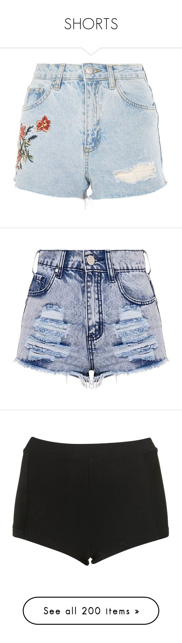 """""""SHORTS"""" by fran-peeters ❤ liked on Polyvore featuring shorts, bottoms, topshop, bleach denim, petite jean shorts, petite denim shorts, denim shorts, petite shorts, bleached denim shorts and short"""