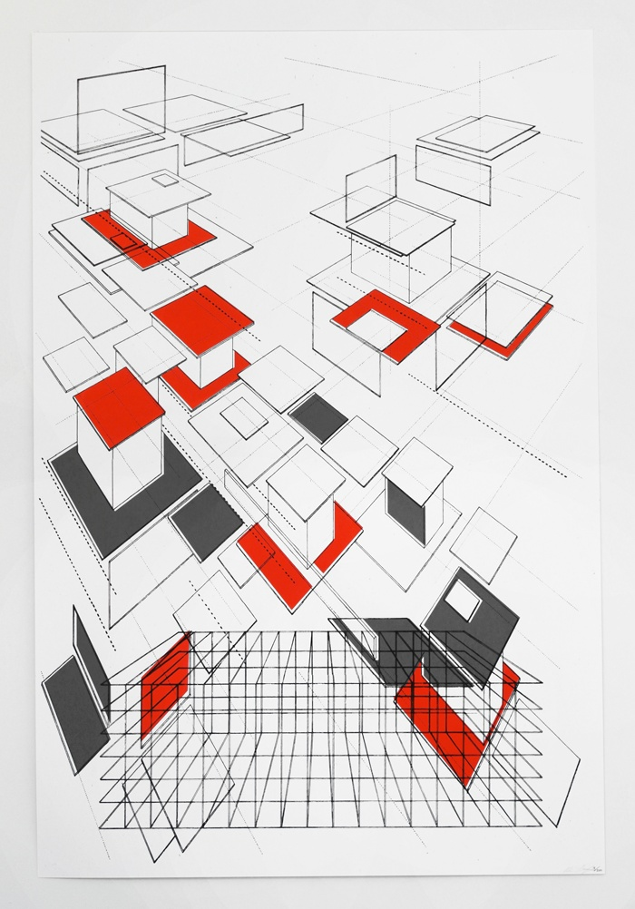 Feeling strict? Architectural drawings can teach us a lot about web design. Architectural drawings by Ben Kafton. #architecture #webdesign #inspiration
