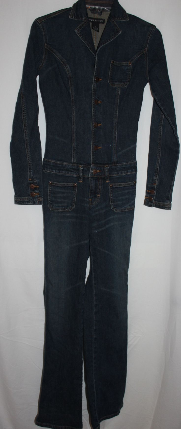 Womens Jean Jumpsuit Size 26 Cotton and Lycra