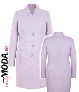 Ružový dámsky zimný kabát - trendymoda.sk