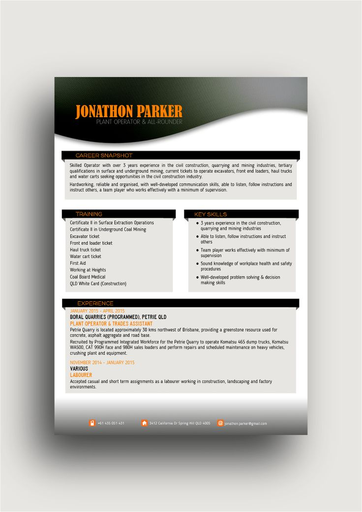 57 best Hot CV Designs images on Pinterest Hot, Design resume - haul truck operator sample resume