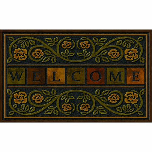 Apache Mills 60-730-1308 Ricardo Doormat, 22-Inch by 36-Inch by Apache Mills. $29.05. Flock and heat transfer designs. The flocked fibers provides scraping and trap dirt. Recycled rubber base made to last a long time. Measures 30-inch length by 18 inch width. Non-slip backing helps keep mat in place. This ricardo mat is a master piece from apache. The non-slip backing helps keep mat in place and there is a flock and heat transfer designs in the mat. The constructio...