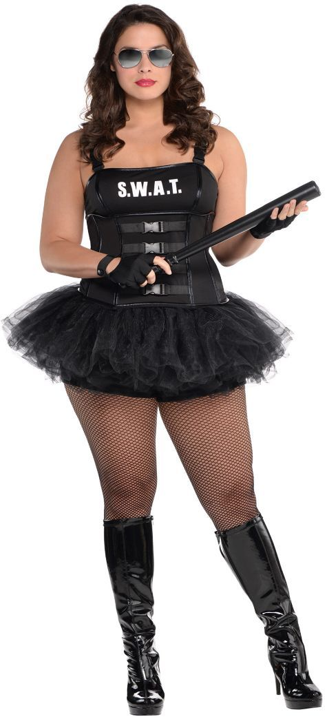Adult Hot SWAT Costume Plus Size - Party City