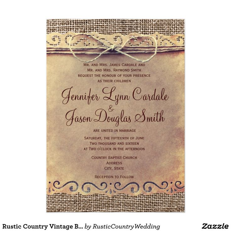 Country Style Weding Invitations 09 - Country Style Weding Invitations