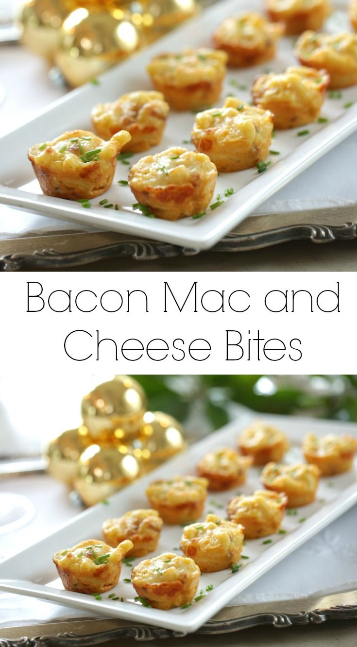 Mac And Cheese Bites With Bacon Recipe Easy Appetizer