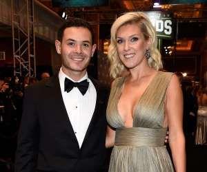 LAS VEGAS, NV - NOVEMBER 30: NASCAR driver Kyle Larson and his girlfriend Kately... - Getty Images