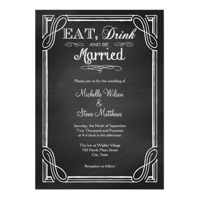 4686 best Chalkboard Wedding Invitations images on Pinterest