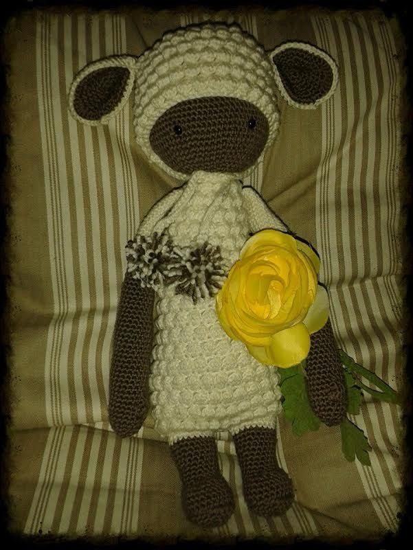LUPO the lamb made by Silvia / crochet pattern by lalylala