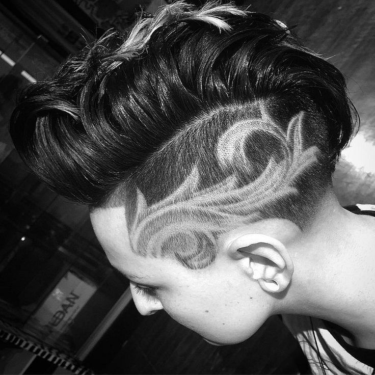Shaved patterns in hair