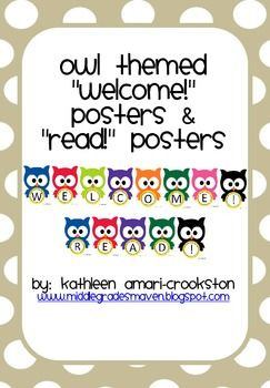 *This is my 50 Followers Freebie!!-Use these owl themed