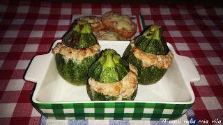 4 passi nella mia vita: Secondi piatti: Zucchine tonde ripiene di salsicci...