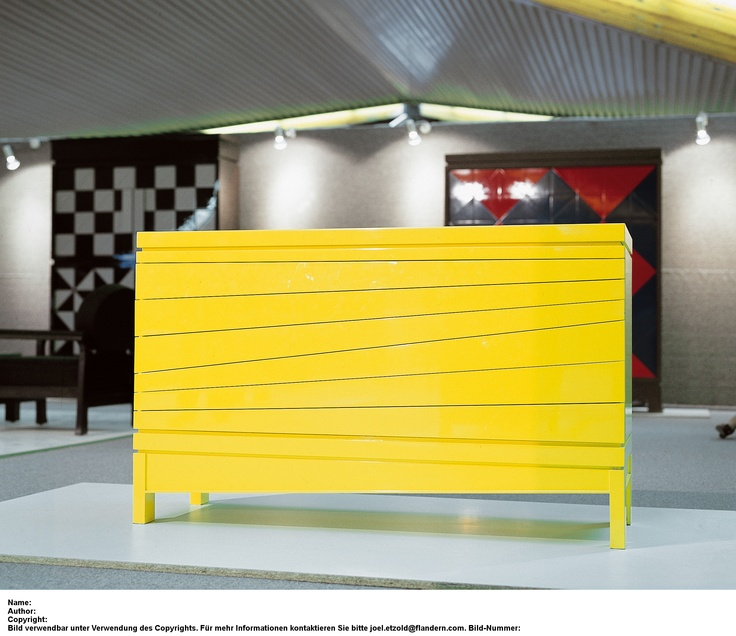Emiel Veranneman; yellow chest of drawers; still one of his best pieces; a Begian classic.