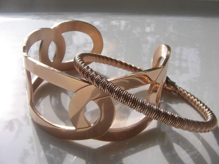QUDO Armband Armspange Armreif * Molina * Letitia * rosévergoldet rosegold