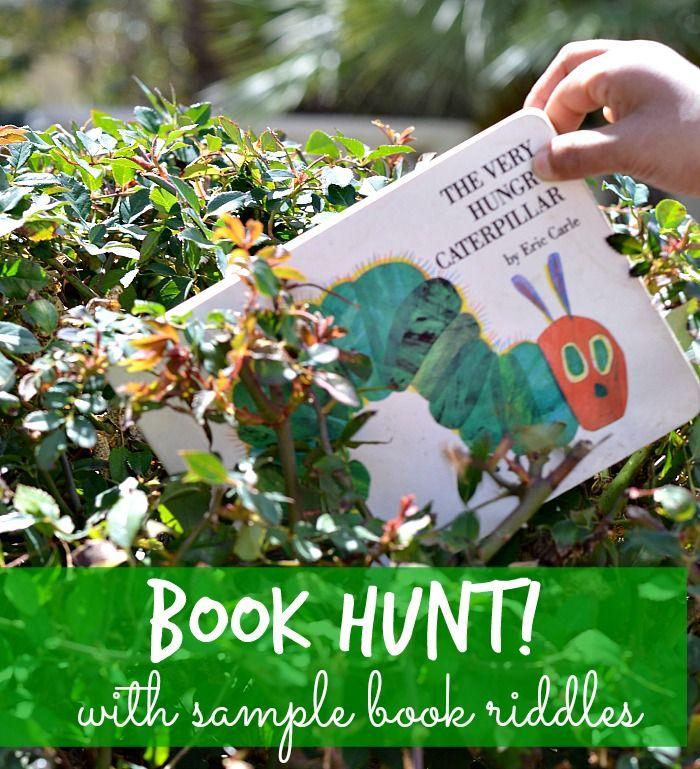 Out door activities for kids  Book Hunt with clues