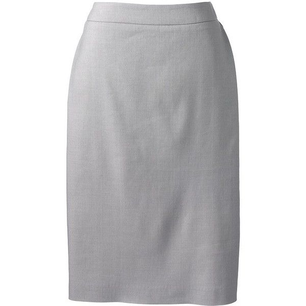 Lands' End Women's Petite Wear To Work Pencil Skirt ($43) ❤ liked on Polyvore featuring skirts, stretch pencil skirt, knee length pencil skirt, petite pencil skirt, stretchy pencil skirt and stretch skirt