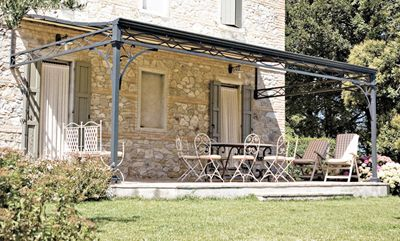 iron pergola - garden