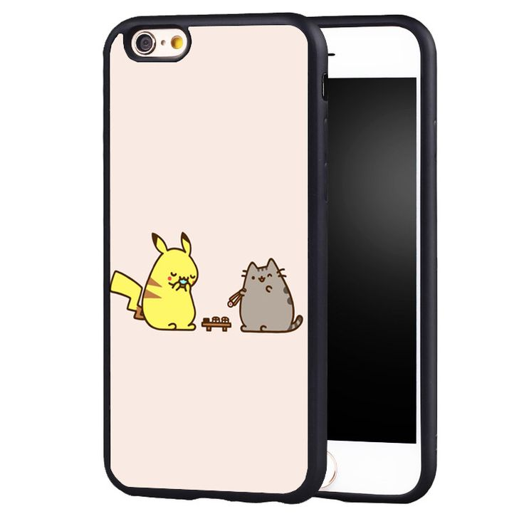 cute funny  Pusheen Pikachu Cat fashion cell phone cover case For iPhone 5 5C 5S SE 6  6plus 6S 7 Plus