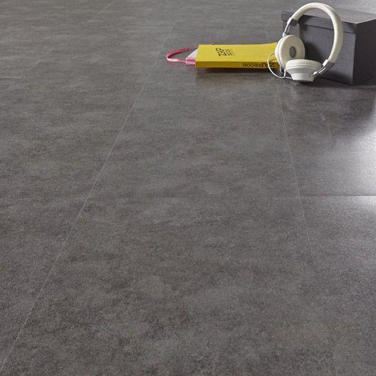 Dalle PVC adhésive AERO béton, foncé, 60.96 x 30.48 cm