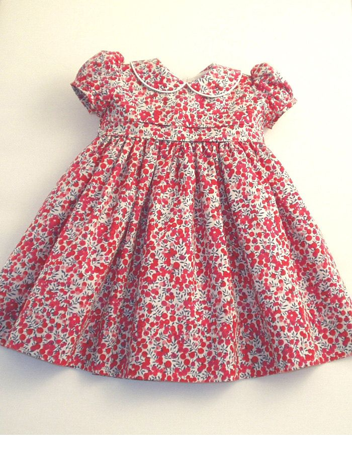 Liberty tana lawn dress made in red wiltshire berries for Kids dress fabric