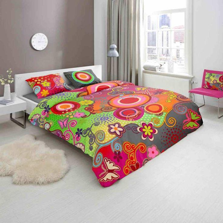 HIP Baumwolle Bettwäsche Farbenfroh Fabulous Bunt HIP Baumwolle Bettwäsche Farbenfroh Material: 100% Baumwolle Bettdecke Größe: 135x200 cm, 155x220 cm Kopfkissen Größe: 80x80 cm Farbe: Bunt Muster: Kreise waschbar bei...