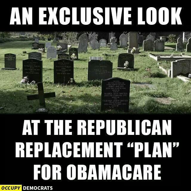 """The Republican (GOP) alternative to """"ObamaCare"""" aka the """"Affordable Care Act (ACA)""""."""