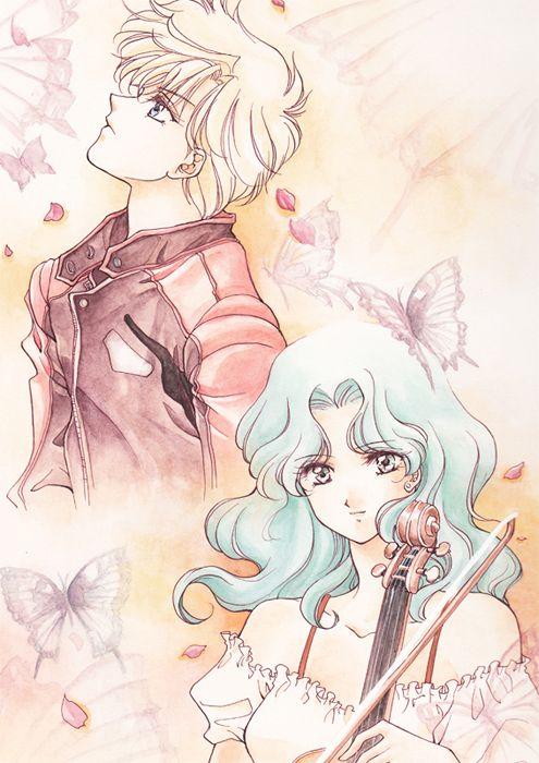 Michiru and Haruka fanart from Sailor Moon By Studio Canopus. Sailor Uranus and Sailor Neptune