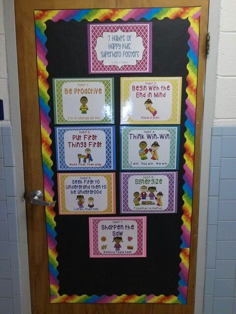 17 best images about bulletin boards door display on for 7 habits decorations