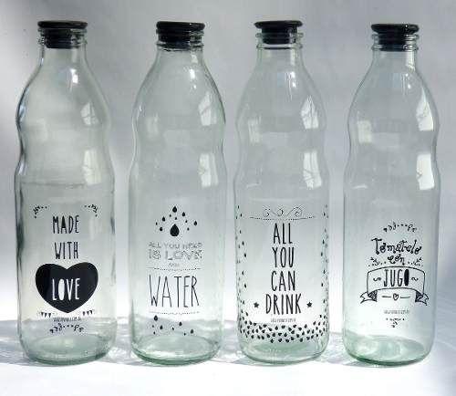 Botellas de vidrio impresas dise os exclusivos tramas y - Cortar botella cristal ...