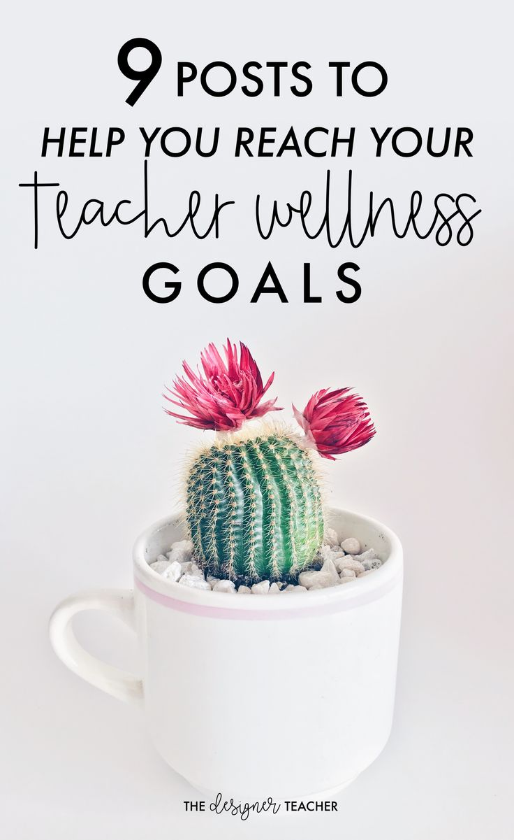 From self care to healthy eating, these blog posts by teachers for teachers will help you crush your wellness goals! #wellness #teaching #selfcare