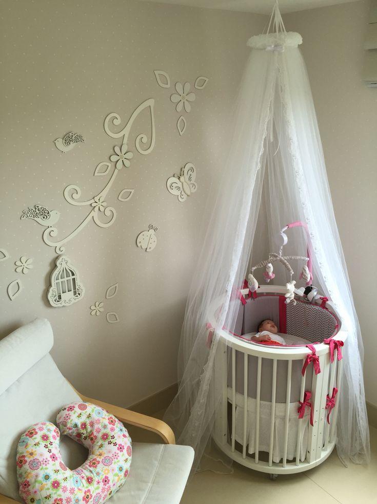 Decoraao quarto de beb com bero redondo sleepers