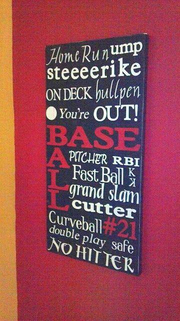 Baseball Nursery Decor: Baseball Words & Sayings Wall Art