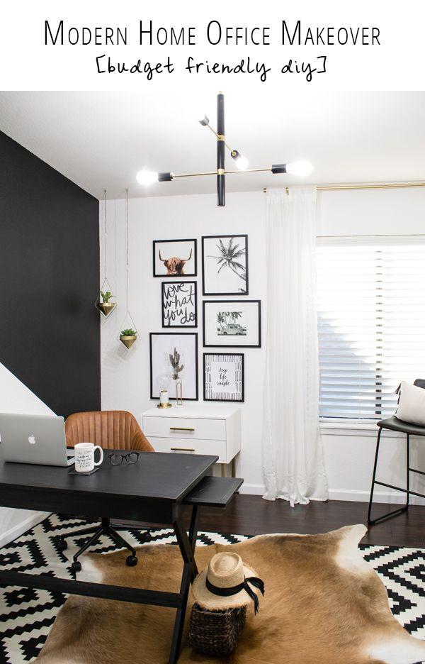 Diy Budget Friendly Modern Home Office Makeover Hudson Valley